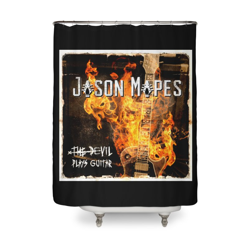 The Devil Plays Guitar Cover Home Shower Curtain by Jason Mapes Online Swag Shop