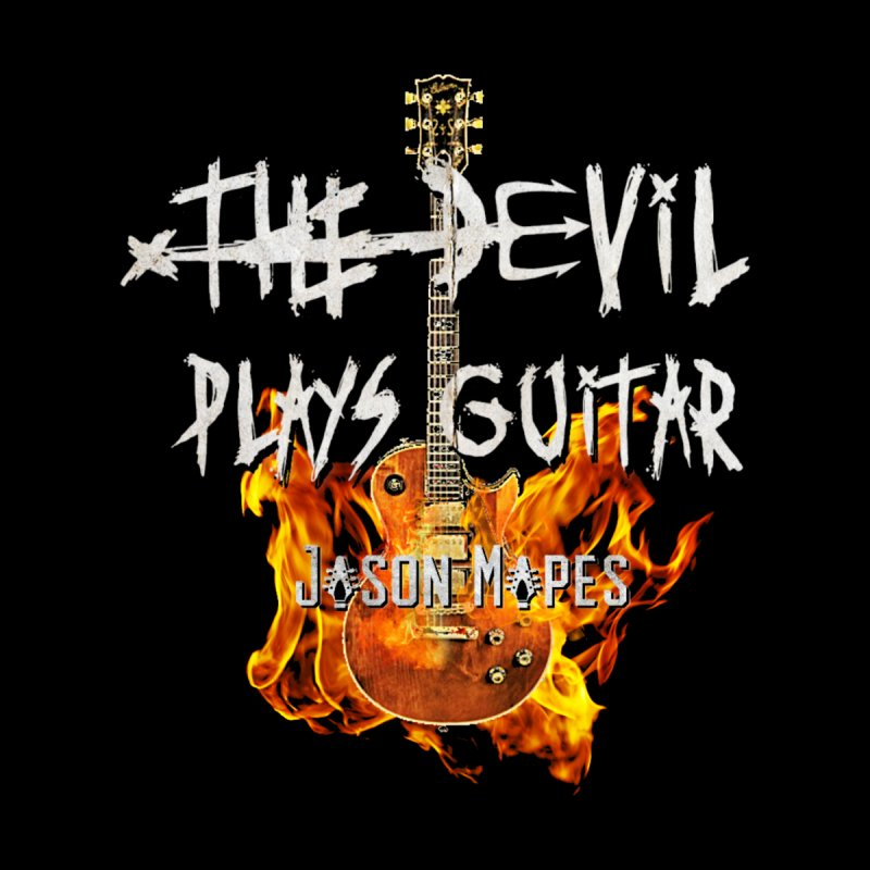 The Devil Plays Guitar Fire Logo Men's T-Shirt by Jason Mapes Online Swag Shop