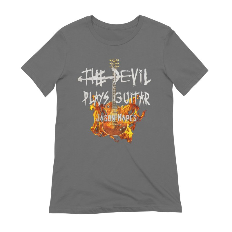 The Devil Plays Guitar Fire Logo Women's T-Shirt by Jason Mapes Online Swag Shop