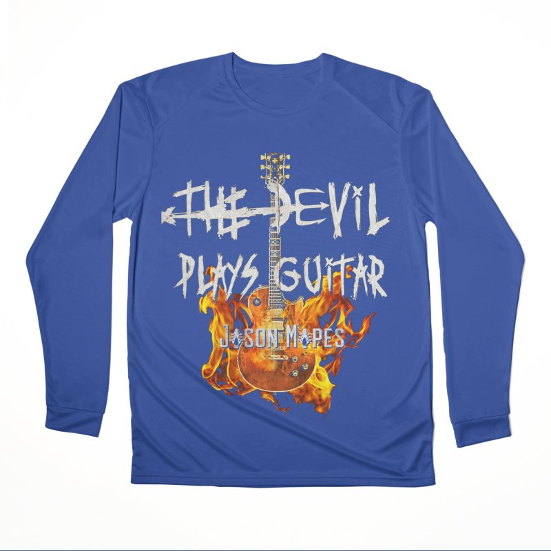 The Devil Plays Guitar Fire Logo Men's Longsleeve T-Shirt by Jason Mapes Online Swag Shop