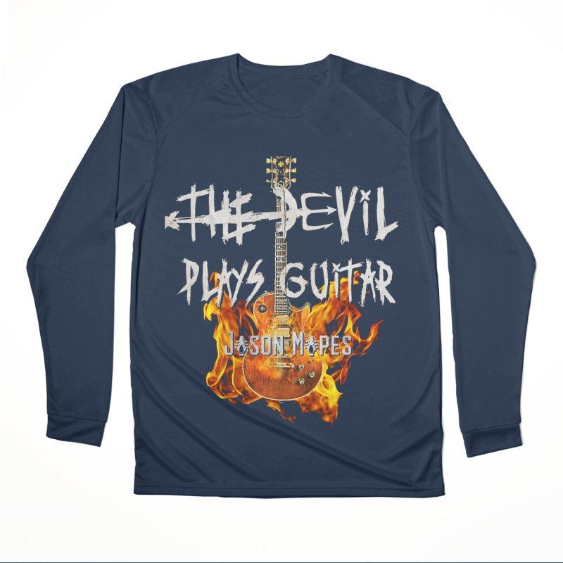 The Devil Plays Guitar Fire Logo Women's Performance Unisex Longsleeve T-Shirt by Jason Mapes Online Swag Shop