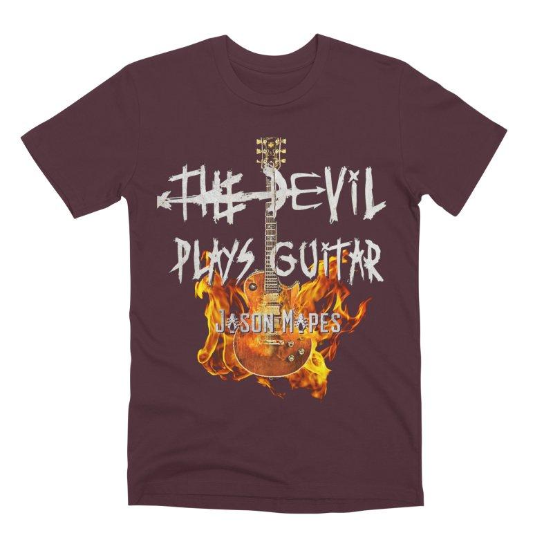 The Devil Plays Guitar Fire Logo Men's Premium T-Shirt by Jason Mapes Online Swag Shop