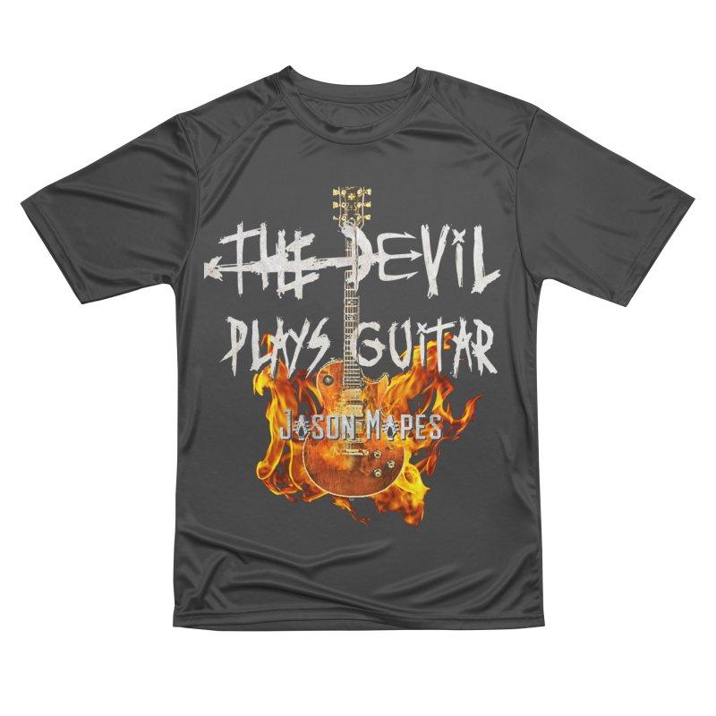 The Devil Plays Guitar Fire Logo Men's Performance T-Shirt by Jason Mapes Online Swag Shop