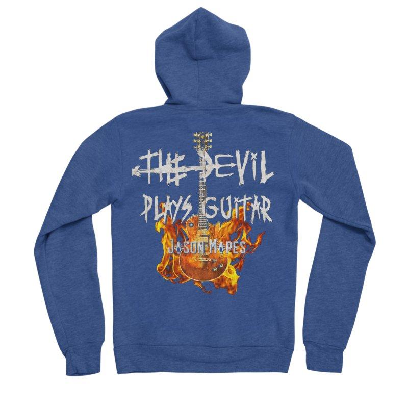The Devil Plays Guitar Fire Logo Men's Sponge Fleece Zip-Up Hoody by Jason Mapes Online Swag Shop