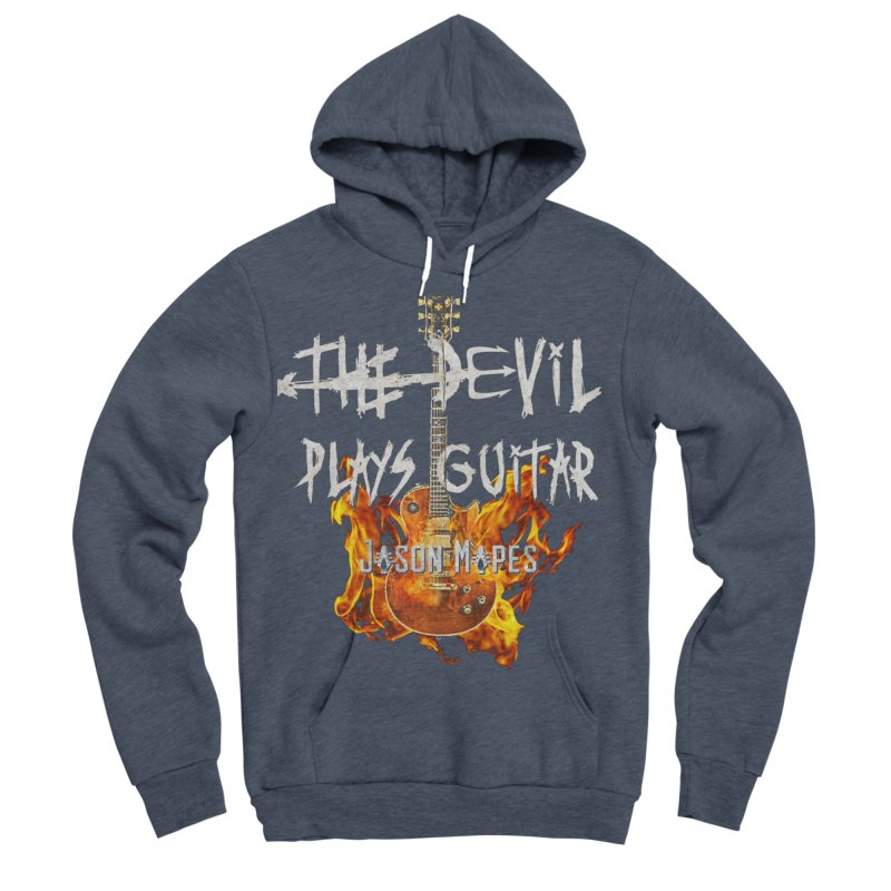 The Devil Plays Guitar Fire Logo Women's Sponge Fleece Pullover Hoody by Jason Mapes Online Swag Shop