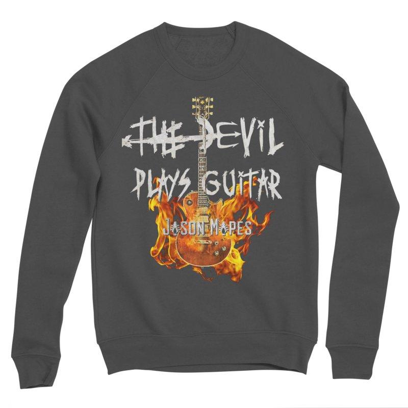 The Devil Plays Guitar Fire Logo Men's Sponge Fleece Sweatshirt by Jason Mapes Online Swag Shop