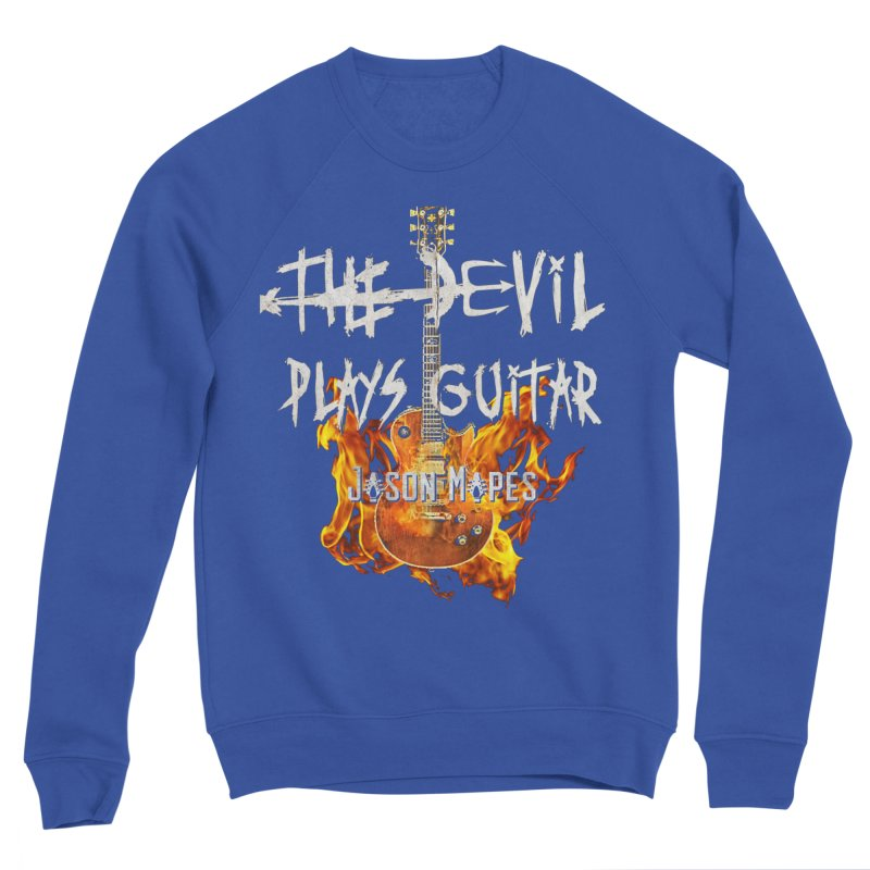 The Devil Plays Guitar Fire Logo Men's Sweatshirt by Jason Mapes Online Swag Shop
