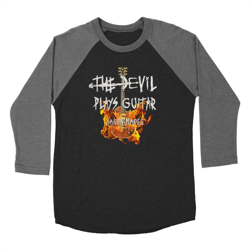 The Devil Plays Guitar Fire Logo Women's Longsleeve T-Shirt by Jason Mapes Online Swag Shop