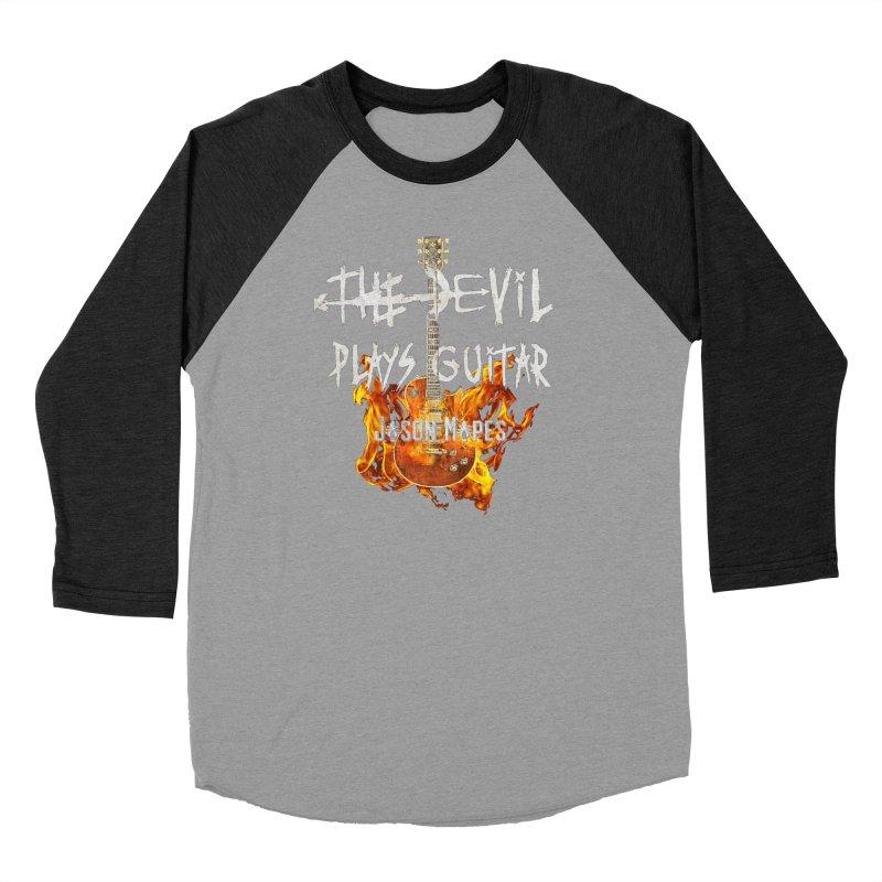 The Devil Plays Guitar Fire Logo Men's Baseball Triblend Longsleeve T-Shirt by Jason Mapes Online Swag Shop