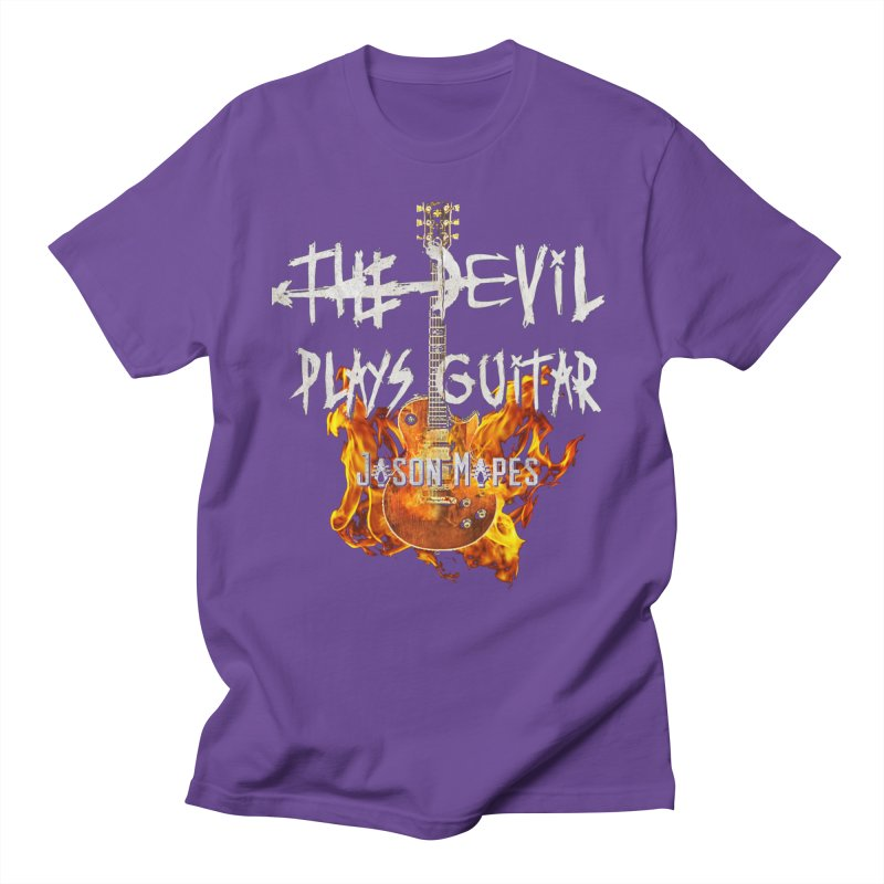 The Devil Plays Guitar Fire Logo Men's Regular T-Shirt by Jason Mapes Online Swag Shop