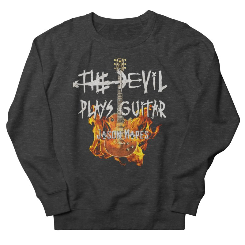 The Devil Plays Guitar Fire Logo Women's Sweatshirt by Jason Mapes Online Swag Shop