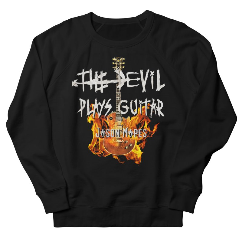 The Devil Plays Guitar Fire Logo Women's French Terry Sweatshirt by Jason Mapes Online Swag Shop