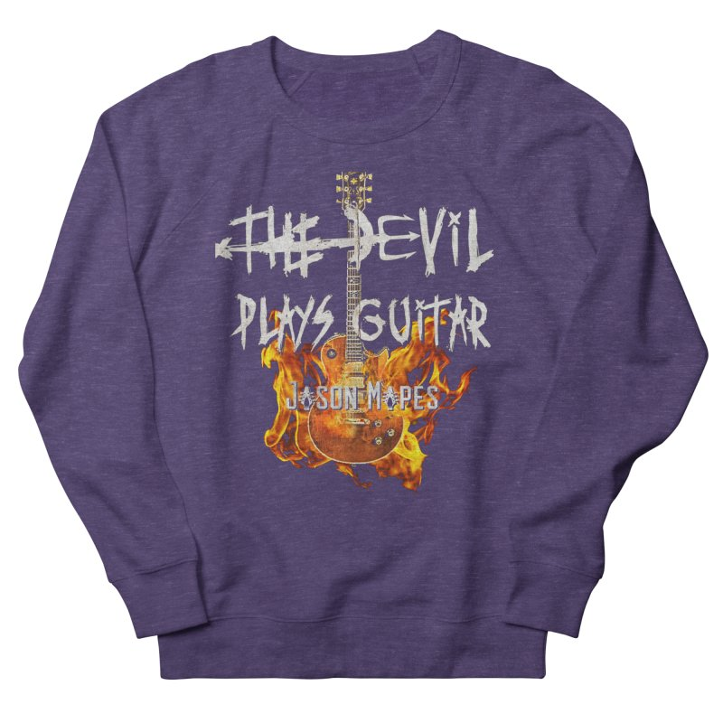 The Devil Plays Guitar Fire Logo Men's French Terry Sweatshirt by Jason Mapes Online Swag Shop