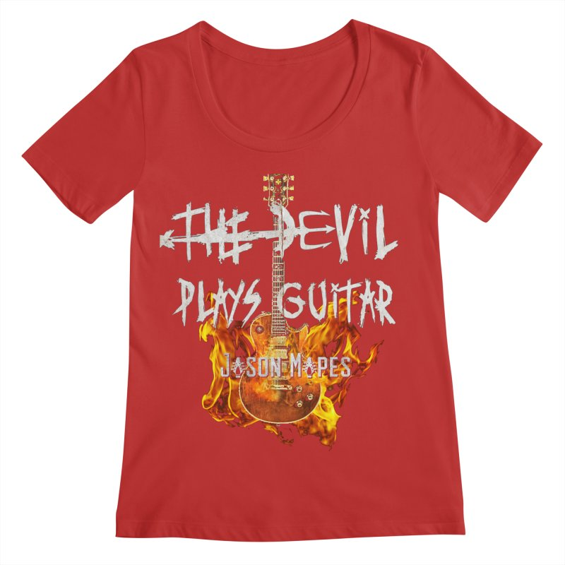 The Devil Plays Guitar Fire Logo Women's Regular Scoop Neck by Jason Mapes Online Swag Shop