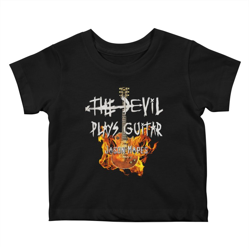 The Devil Plays Guitar Fire Logo Kids Baby T-Shirt by Jason Mapes Online Swag Shop