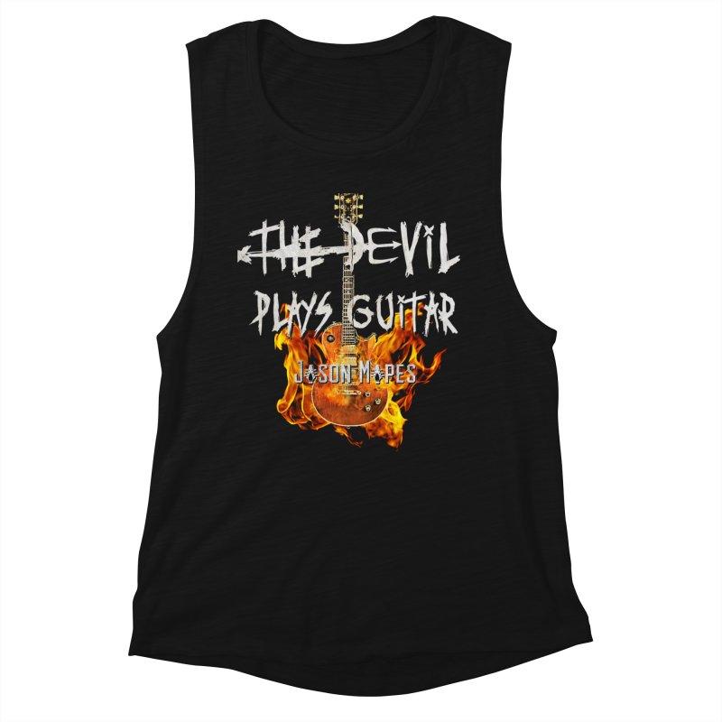 The Devil Plays Guitar Fire Logo Women's Tank by Jason Mapes Online Swag Shop