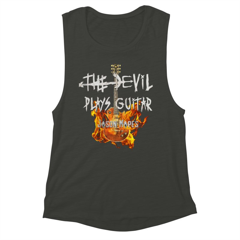 The Devil Plays Guitar Fire Logo Women's Muscle Tank by Jason Mapes Online Swag Shop