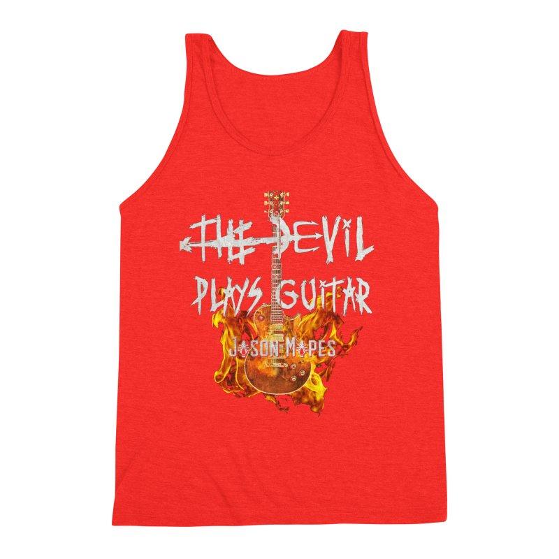 The Devil Plays Guitar Fire Logo Men's Tank by Jason Mapes Online Swag Shop