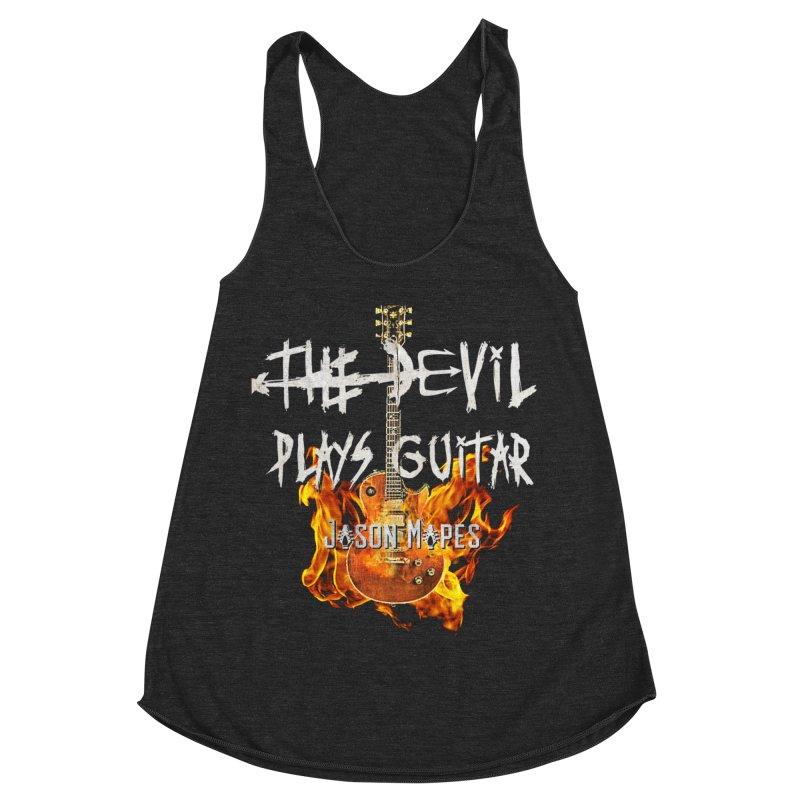 The Devil Plays Guitar Fire Logo Women's Racerback Triblend Tank by Jason Mapes Online Swag Shop