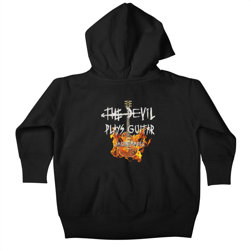 The Devil Plays Guitar Fire Logo Kids Baby Zip-Up Hoody by Jason Mapes Online Swag Shop