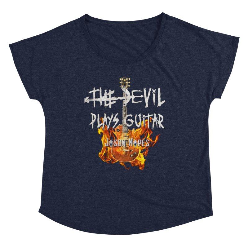 The Devil Plays Guitar Fire Logo Women's Scoop Neck by Jason Mapes Online Swag Shop