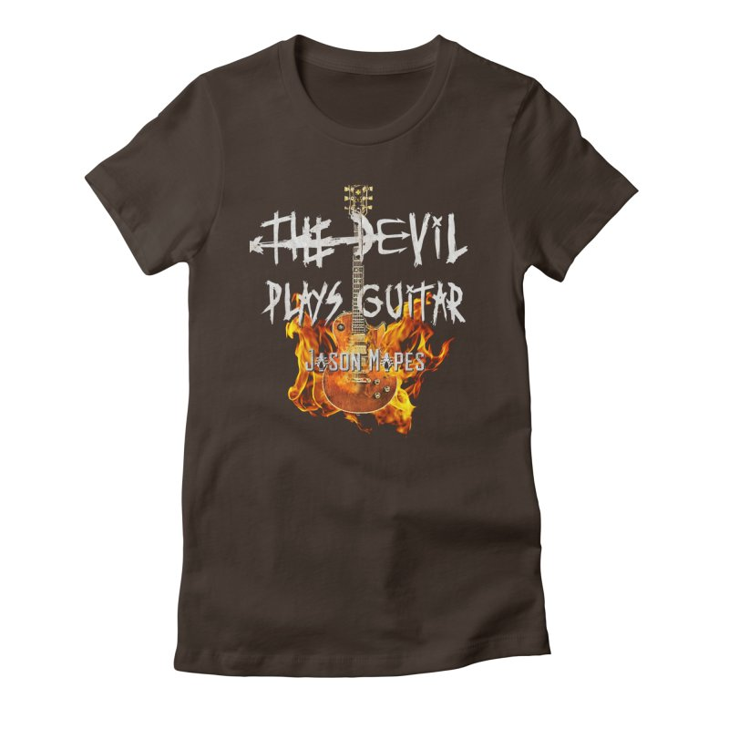 The Devil Plays Guitar Fire Logo Women's Fitted T-Shirt by Jason Mapes Online Swag Shop