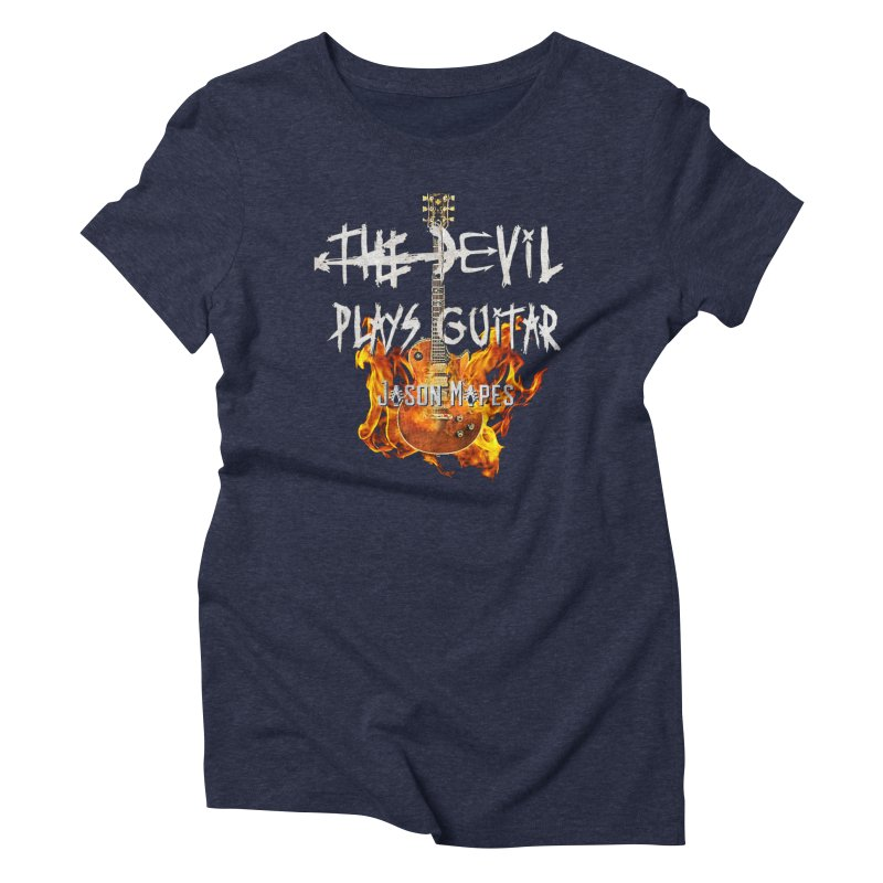 The Devil Plays Guitar Fire Logo Women's Triblend T-Shirt by Jason Mapes Online Swag Shop