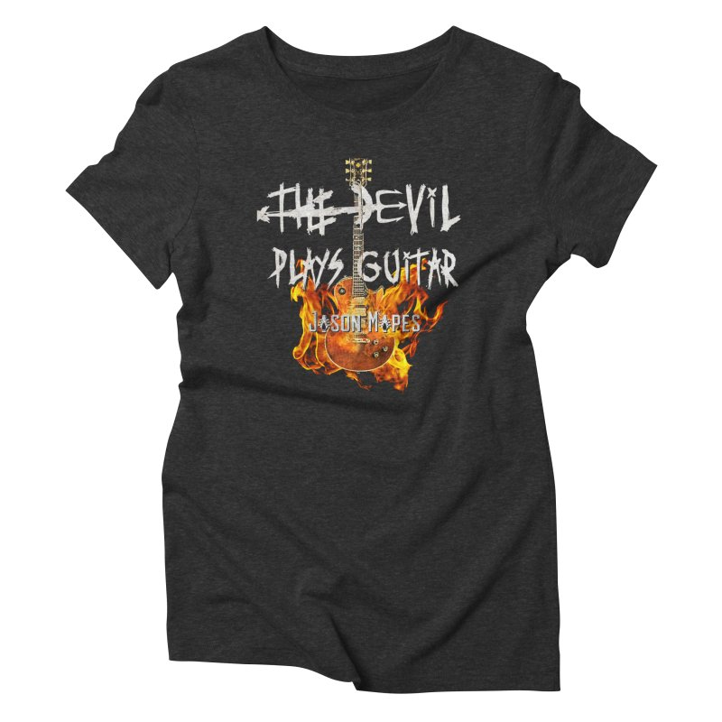 The Devil Plays Guitar Fire Logo Women's Triblend T-Shirt by Jason Mapes Online Swag Shop