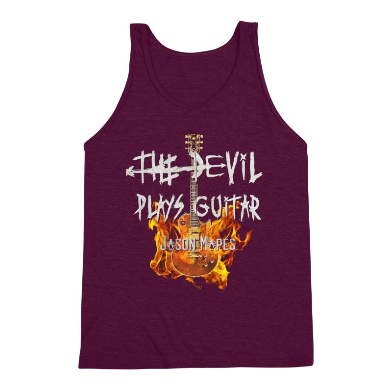 The Devil Plays Guitar Fire Logo Men's Triblend Tank by Jason Mapes Online Swag Shop