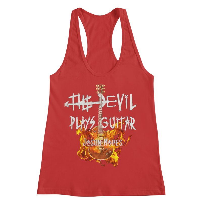 The Devil Plays Guitar Fire Logo Women's Racerback Tank by Jason Mapes Online Swag Shop