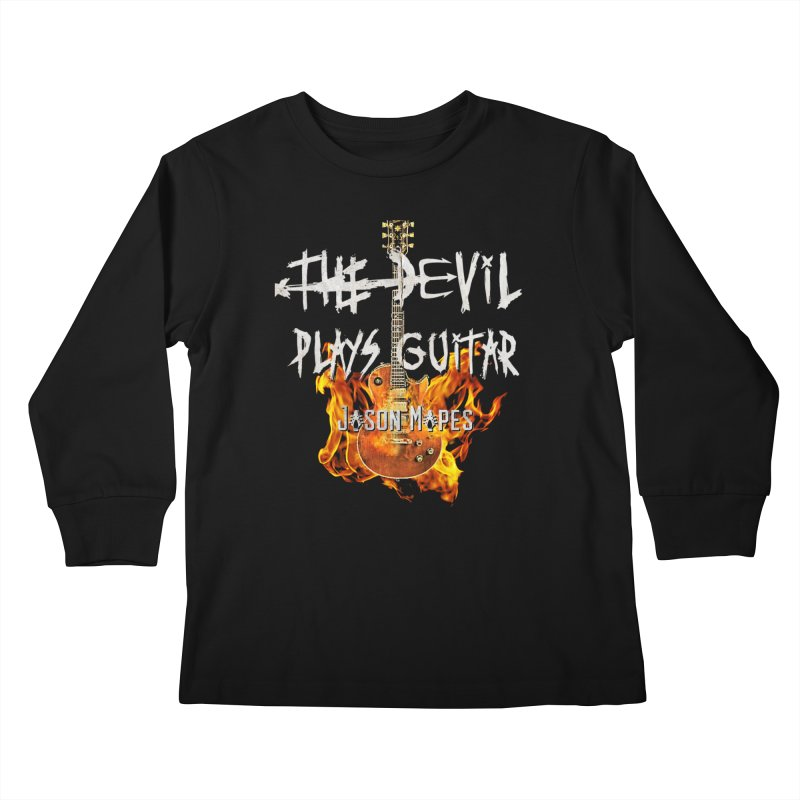 The Devil Plays Guitar Fire Logo Kids Longsleeve T-Shirt by Jason Mapes Online Swag Shop