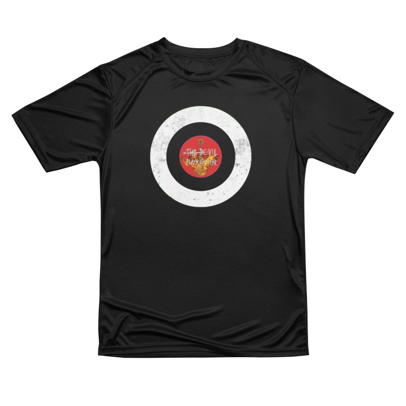 The Devil Plays Guitar Bullseye Logo Men's T-Shirt by Jason Mapes Online Swag Shop