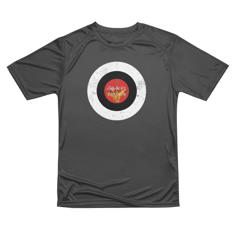 The Devil Plays Guitar Bullseye Logo Women's Performance Unisex T-Shirt by Jason Mapes Online Swag Shop