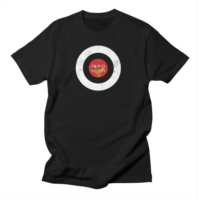 The Devil Plays Guitar Bullseye Logo Men's T-Shirt by Jason Mapes Online Swag Shop