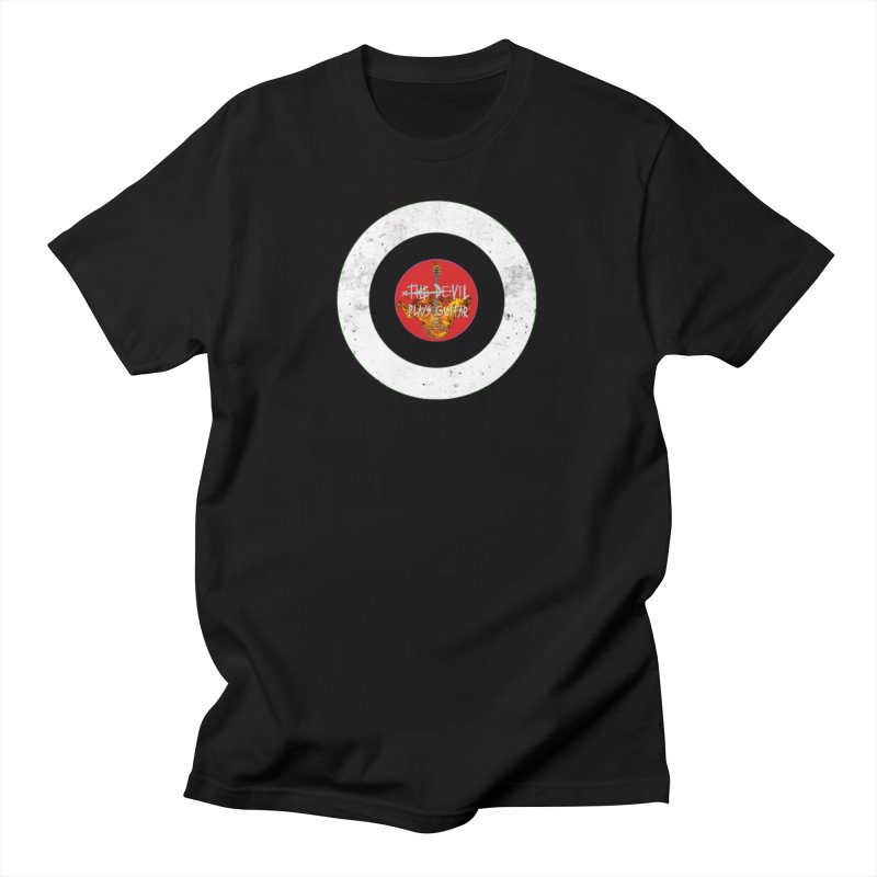The Devil Plays Guitar Bullseye Logo Men's Regular T-Shirt by Jason Mapes Online Swag Shop
