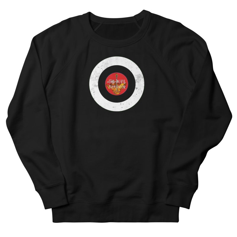 The Devil Plays Guitar Bullseye Logo Women's French Terry Sweatshirt by Jason Mapes Online Swag Shop