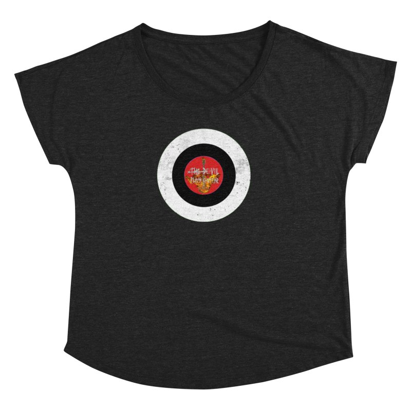 The Devil Plays Guitar Bullseye Logo Women's Dolman Scoop Neck by Jason Mapes Online Swag Shop