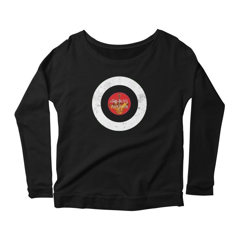 The Devil Plays Guitar Bullseye Logo Women's Scoop Neck Longsleeve T-Shirt by Jason Mapes Online Swag Shop