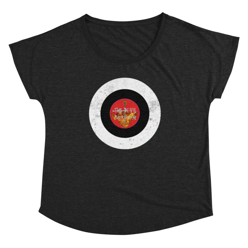 The Devil Plays Guitar Bullseye Logo Women's Dolman Scoop Neck by Jason Mapes Online Swag Shop