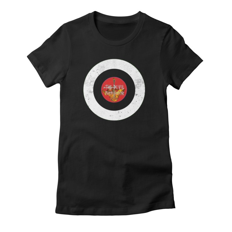 The Devil Plays Guitar Bullseye Logo Women's Fitted T-Shirt by Jason Mapes Online Swag Shop
