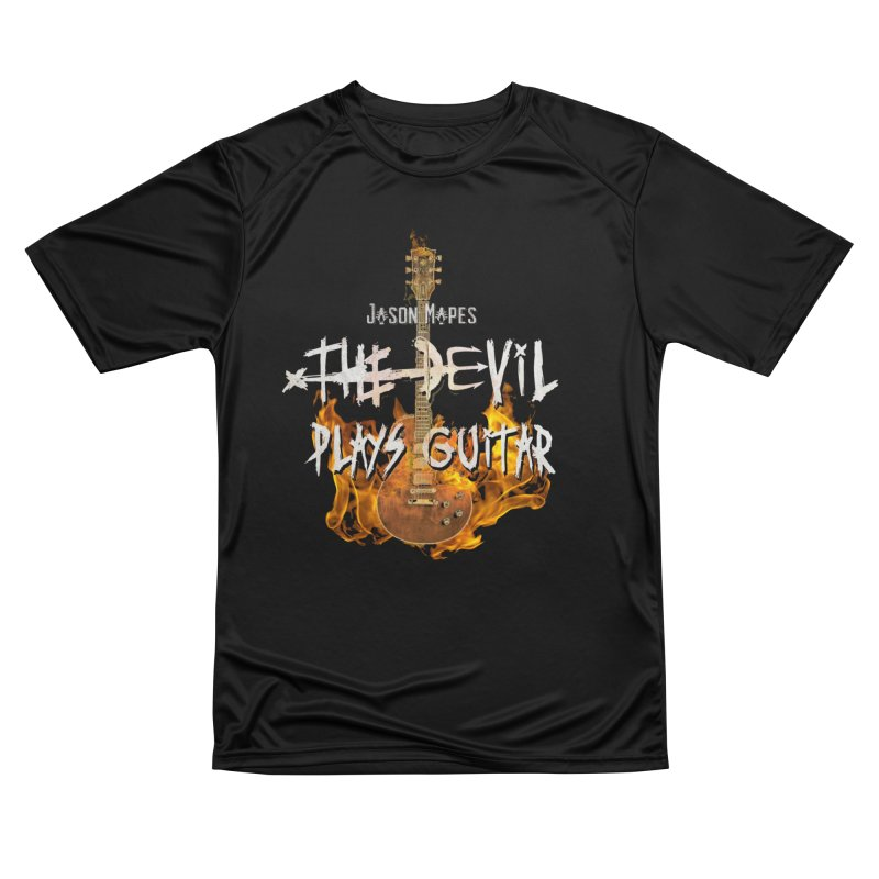 Jason Mapes The Devil Plays Guitar Logo Men's T-Shirt by Jason Mapes Online Swag Shop