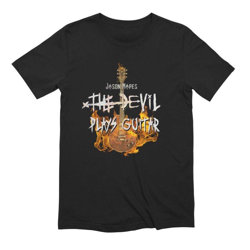 Jason Mapes The Devil Plays Guitar Logo Men's Extra Soft T-Shirt by Jason Mapes Online Swag Shop