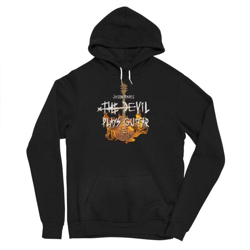 Jason Mapes The Devil Plays Guitar Logo Men's Pullover Hoody by Jason Mapes Online Swag Shop