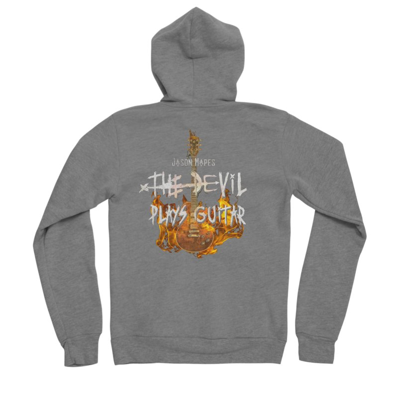 Jason Mapes The Devil Plays Guitar Logo Women's Zip-Up Hoody by Jason Mapes Online Swag Shop