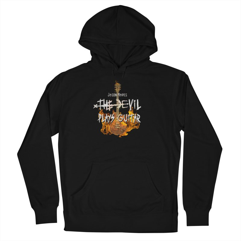 Jason Mapes The Devil Plays Guitar Logo Men's French Terry Pullover Hoody by Jason Mapes Online Swag Shop