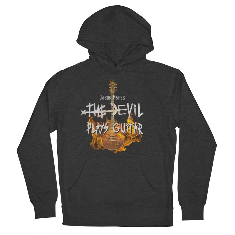Jason Mapes The Devil Plays Guitar Logo Women's French Terry Pullover Hoody by Jason Mapes Online Swag Shop