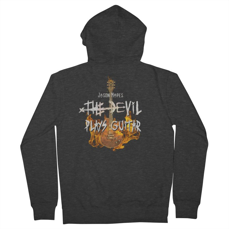 Jason Mapes The Devil Plays Guitar Logo Men's French Terry Zip-Up Hoody by Jason Mapes Online Swag Shop