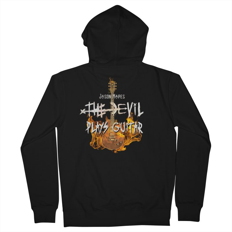 Jason Mapes The Devil Plays Guitar Logo Men's Zip-Up Hoody by Jason Mapes Online Swag Shop