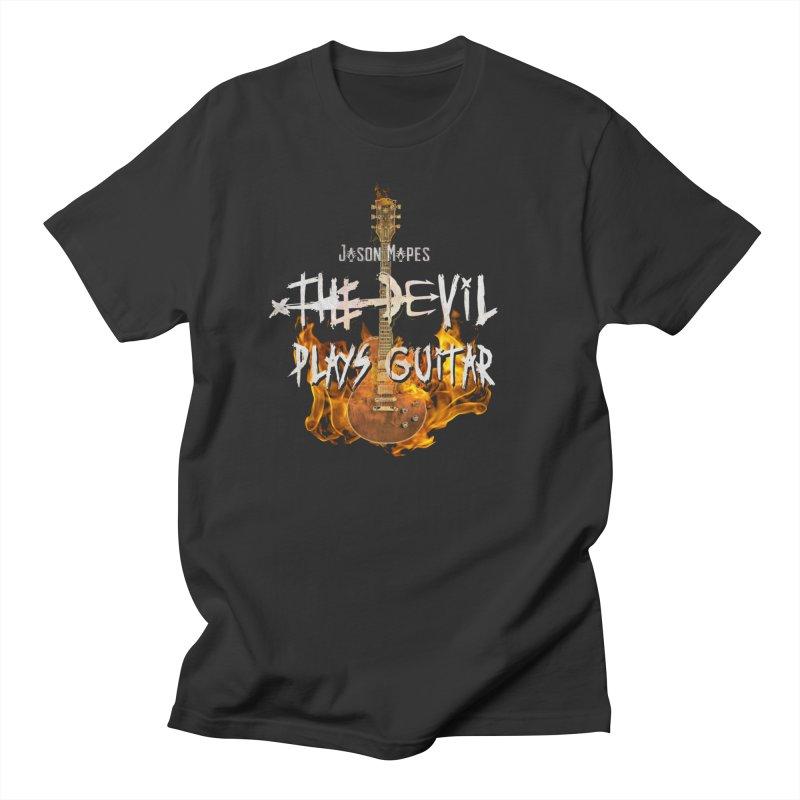 Jason Mapes The Devil Plays Guitar Logo Men's T-Shirt by Jason Mapes Online Swag Shop