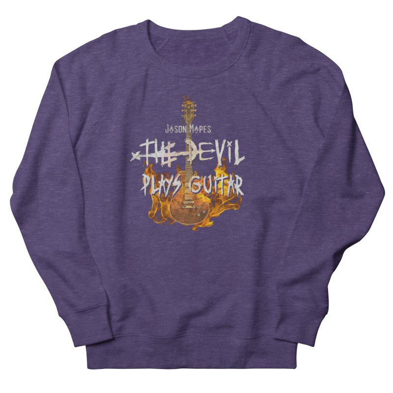 Jason Mapes The Devil Plays Guitar Logo Women's French Terry Sweatshirt by Jason Mapes Online Swag Shop